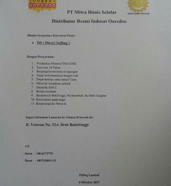 Lowongan Kerja di Bukittinggi – PT.Mitra Bisnis Selular