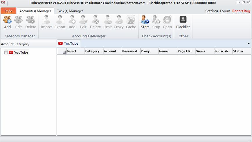 TubeAssist Pro 1 0 2 0 Ultimate Cracked - Youtube Bot ~ Seo