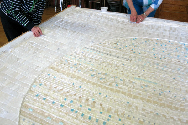 Judy\'s Journal: Putting a quilt in
