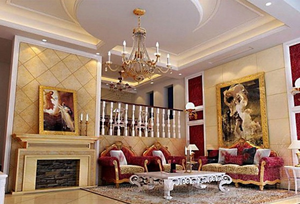 European villa 3d model free 3ds max