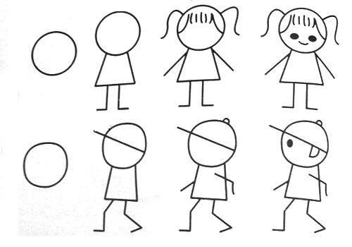 Cara menggambar anak kecil  untuk anak-anak 2