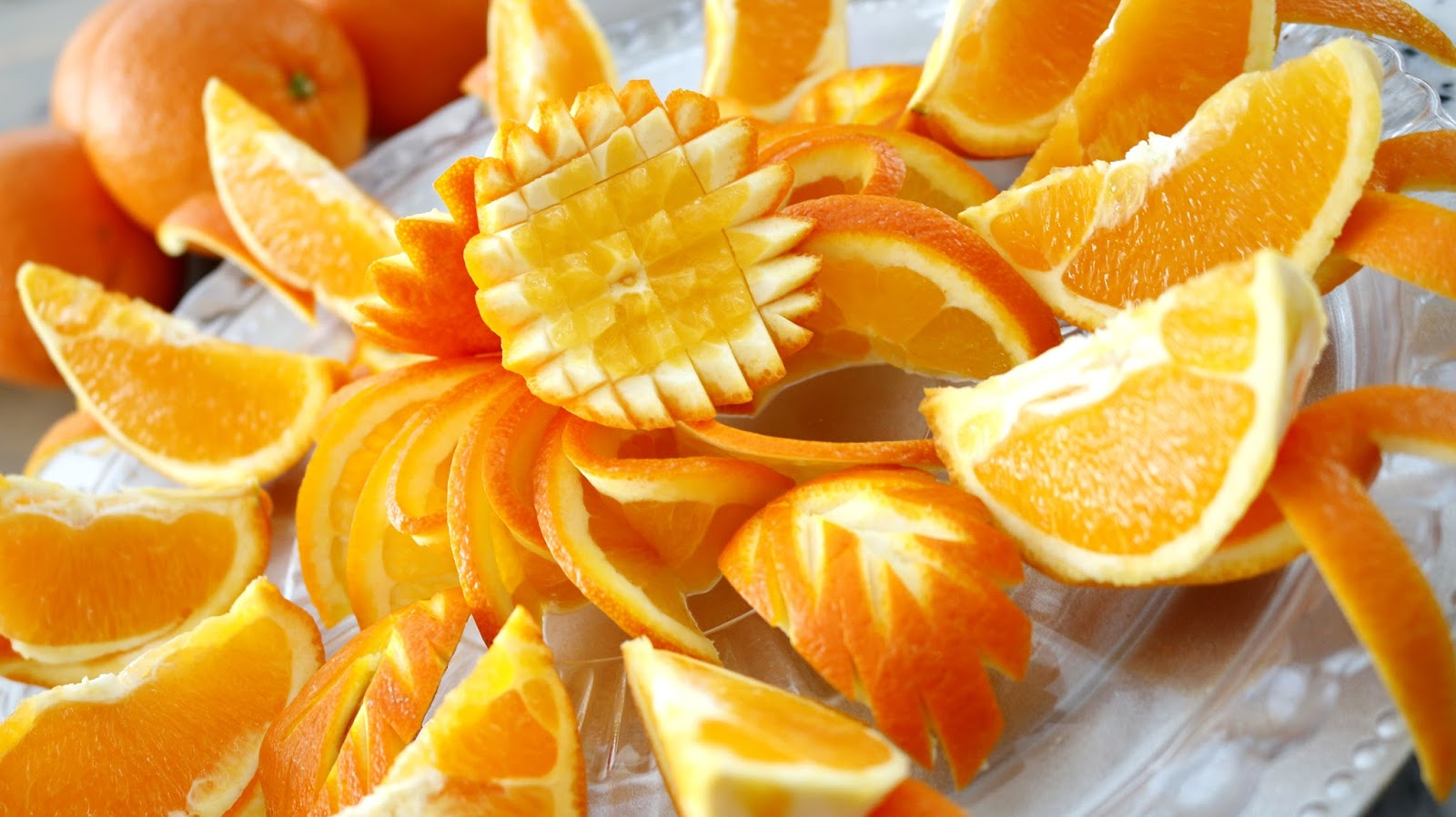 how to cut oranges for fruit platter