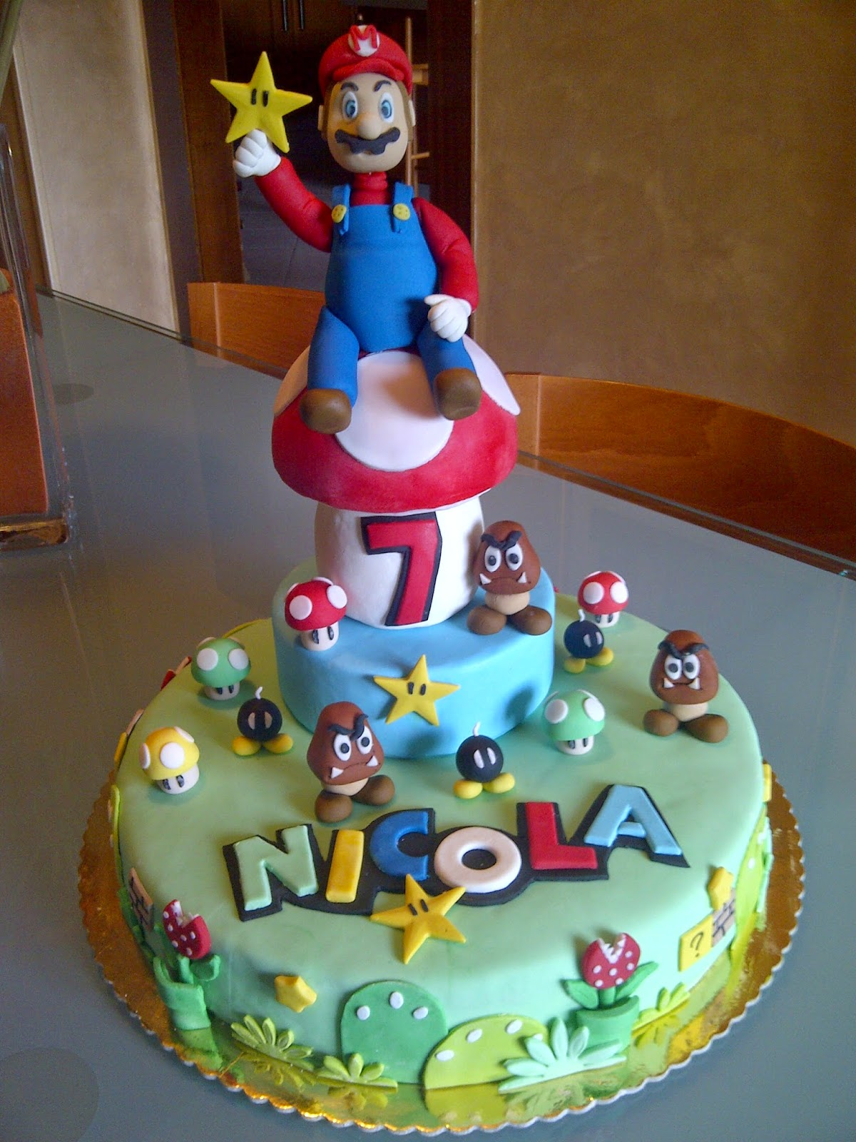 Art Sugar Crystals Torta Super Mario Bross Pdz