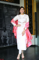 Mannara Chopra in Silky White Salwar Suit with Pink Chunni Latest Exclusive Pics March 2017 ~  035.JPG