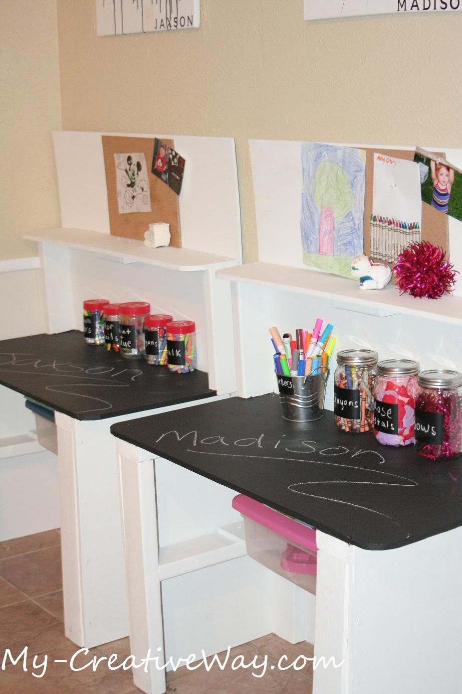 diy kids art table farmhouse art desk
