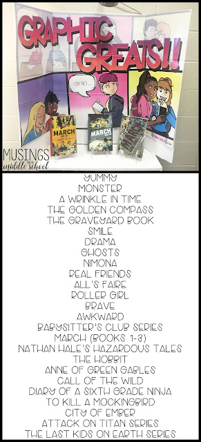 """January Book Display: """"Graphic Greats"""""""