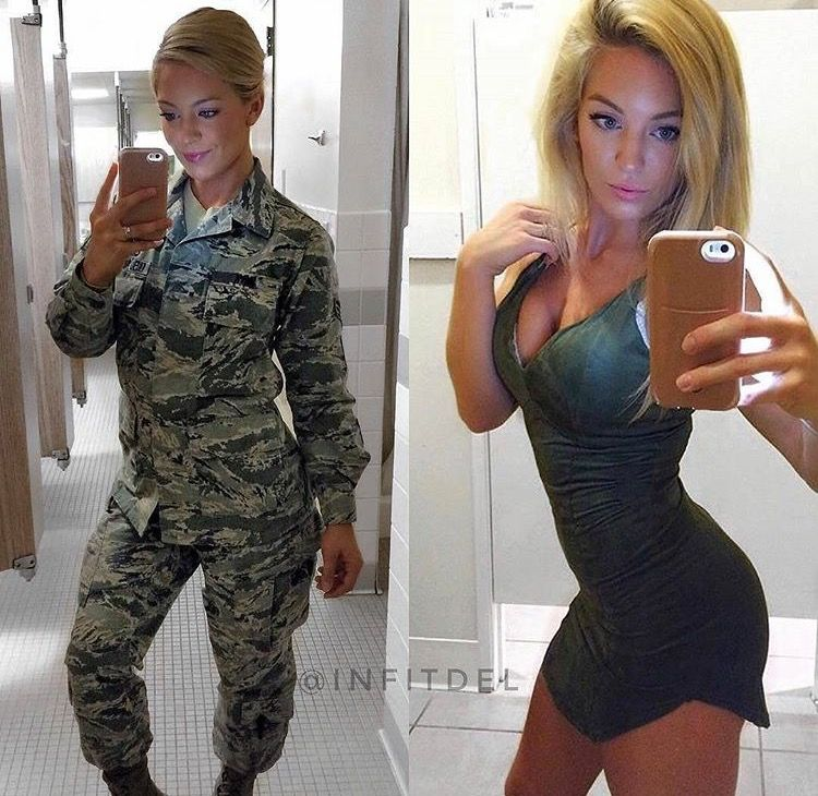 41 Professional Military Women In  Out Of Uniform Looking -6872