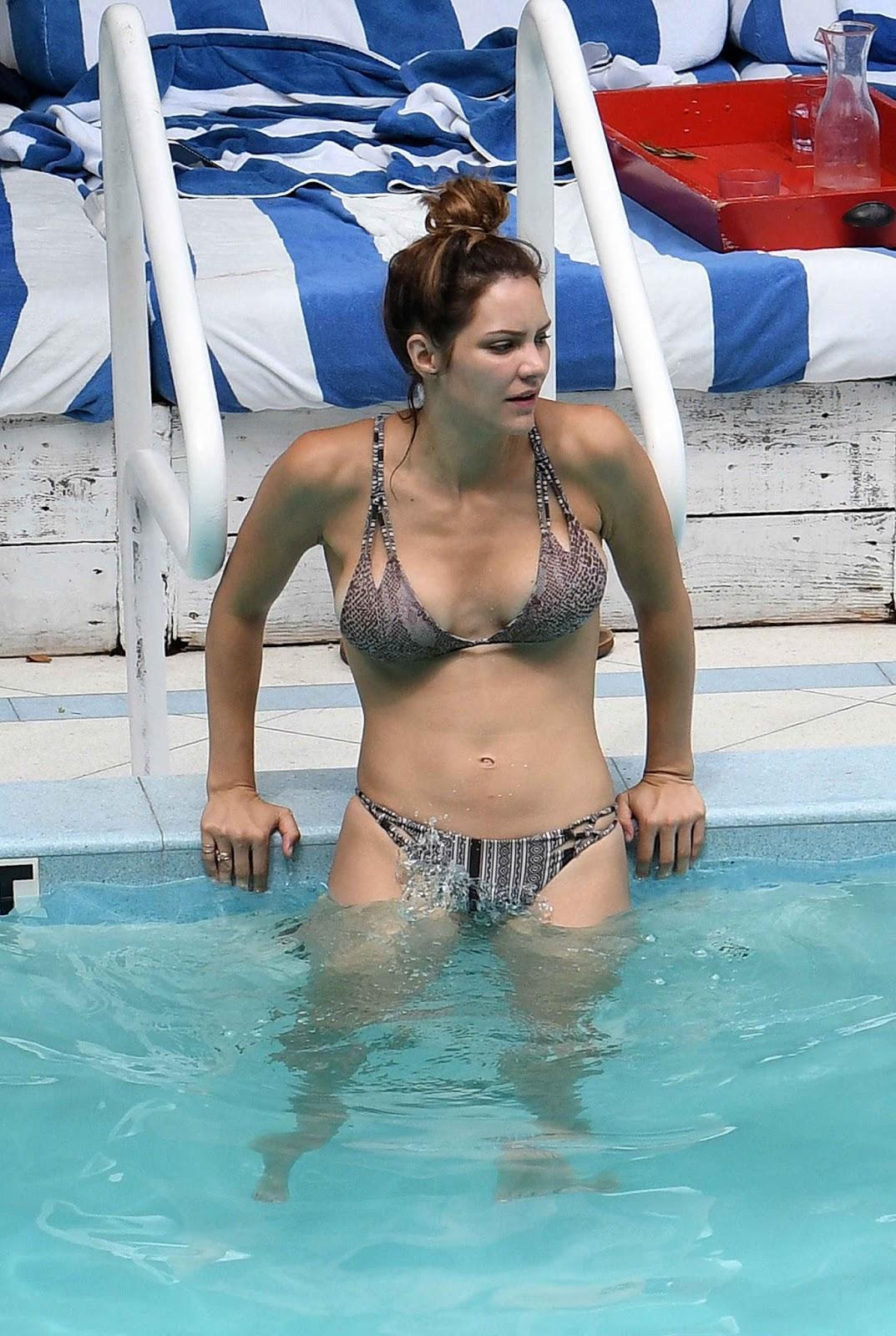 Katharine McPhee at a Pool
