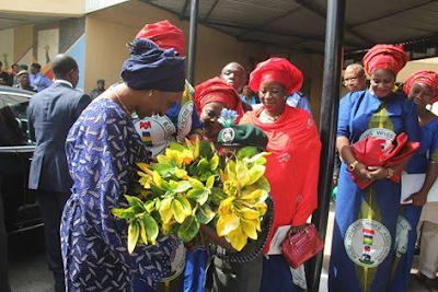 Photos: Aisha Buhari Seeks Support For Wives Of Officers And Men Of The Nigerian Police Force