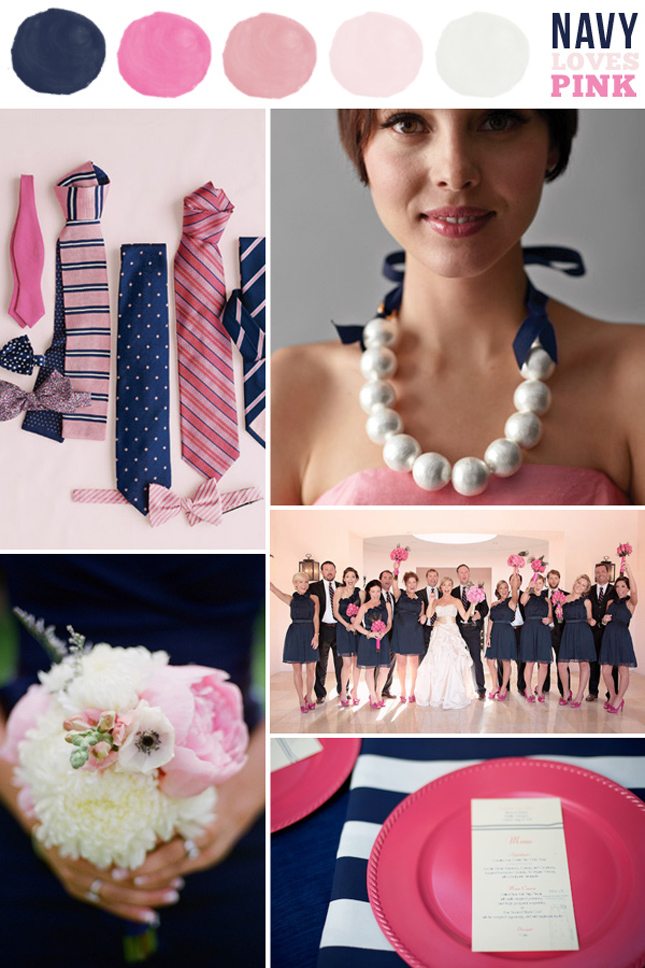 Spring Summer Wedding Colors Navy Belle The Magazine