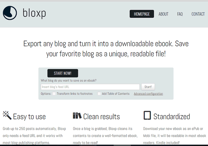 Bloxp makes it easy to convert your blog to downloadable Ebooks