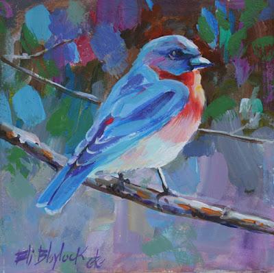 45 Beautiful Examples Of Acrylic Painting | Chickadee art ...  |Bird Painting Acrylic