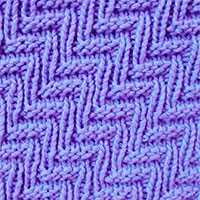 Rib and Welt stitch pattern using a combination of knit and purl stitches.