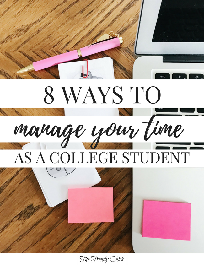 8 College Time Management Tips