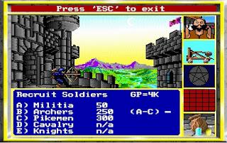 Reclutando tropas en el castillo del Rey