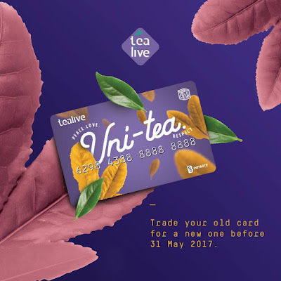 Chatime Thirstea FREE Tealive Asia Uni-tea Card Trade-in Exchange