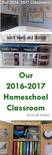 Our 2016-2017 Homeschool Classroom from In Our Pond