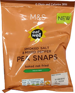 M&S Eat Well Smoked Salt & Mixed Pepper Pea Snaps