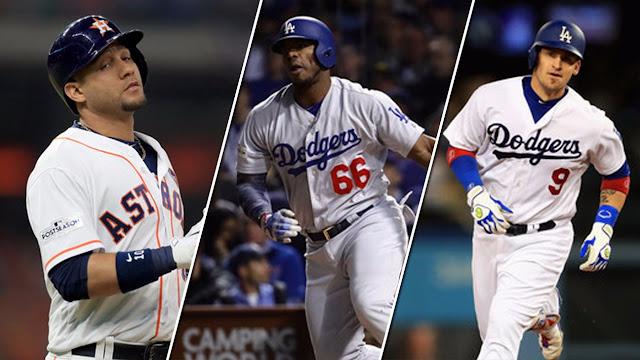 Cuando los 3 coincidan en un juego, se activará la cláusula histórica del béisbol cubano en las Mayores: 3 antillanos en un mismo desafío de Serie Mundial, algo que solamente ha ocurrido en par de ediciones.