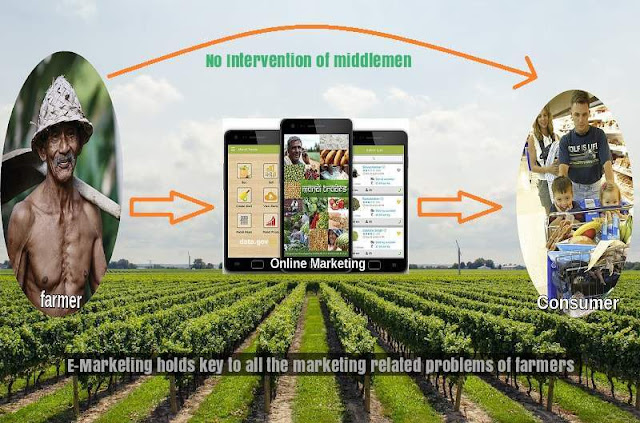 Smart touch to agriculture , online marketing is the solution for all the problems of farmers