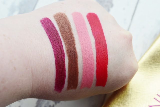 Winky Lux Matte Lip Velour Lip Pills swatches
