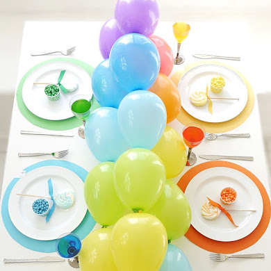Table Arc-en-Ciel et DIY Guirlande de Ballons