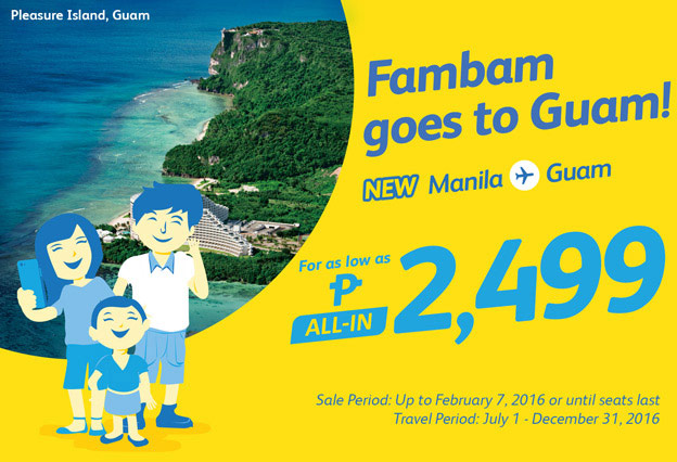 Manila to Guam January 2016 Seat Sale Promo