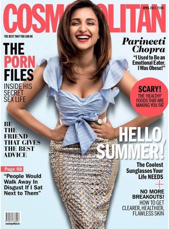 Parineeti Chopra Features on Cover of Cosmpolitan Magazine April 2017