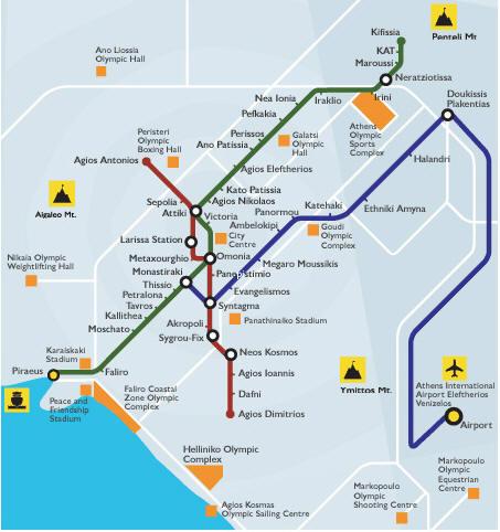 athéni tömegközlekedés