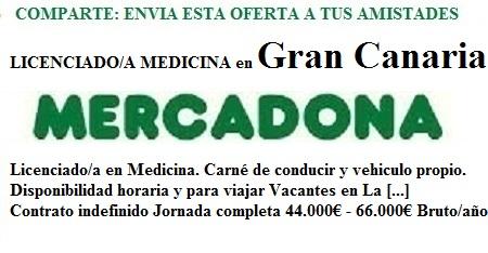 Lanzadera de Empleo Virtual Las Palmas, Oferta Mercadona