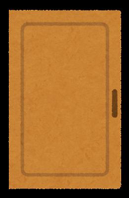 閉まったドアのイラスト