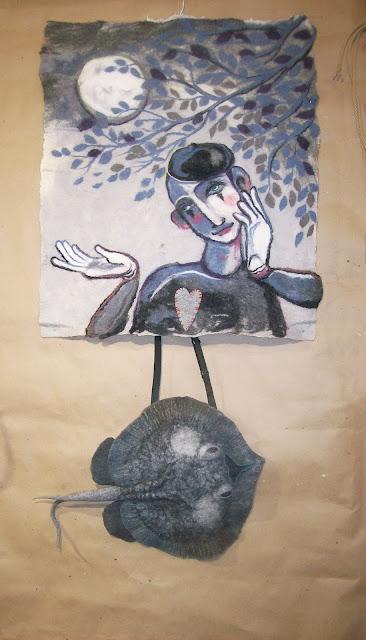 """войлоковаляние, картины из шерсти, выставка """"формула рукоделия"""", Самара 2016"""