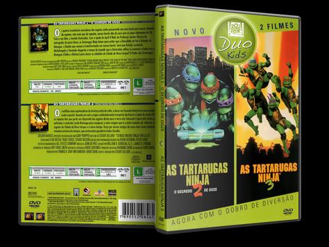 Capa DVD As Tartarugas Ninja 2 - O Segredo De Ooze + As Tartarugas Ninja 3 [Duo Kids]