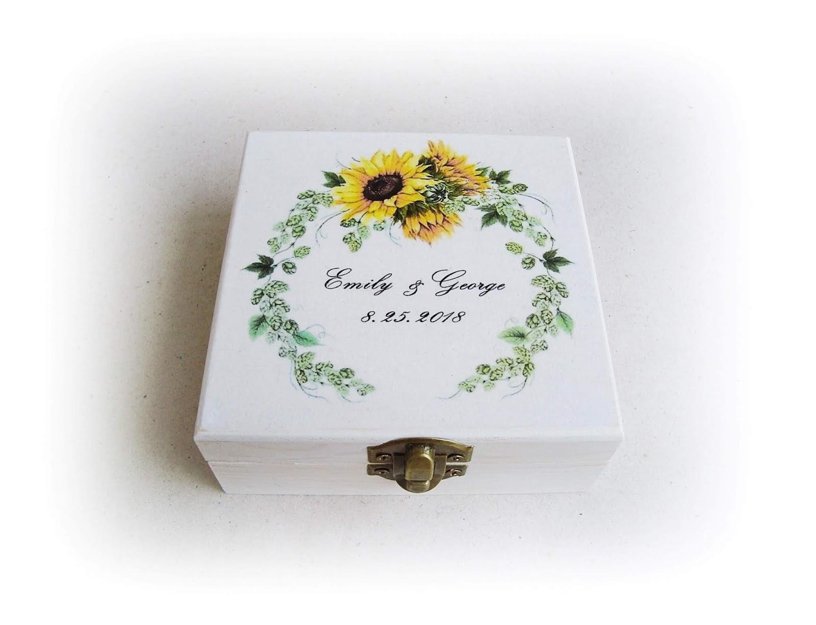Wedding Ring Boxes - Gift Idea: Sunflower Wedding Rings Box ...