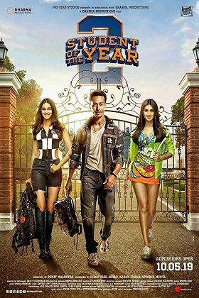 Student of the Year 2 (2019) Full Movie Hindi 1.2GB pDVDRip 720p