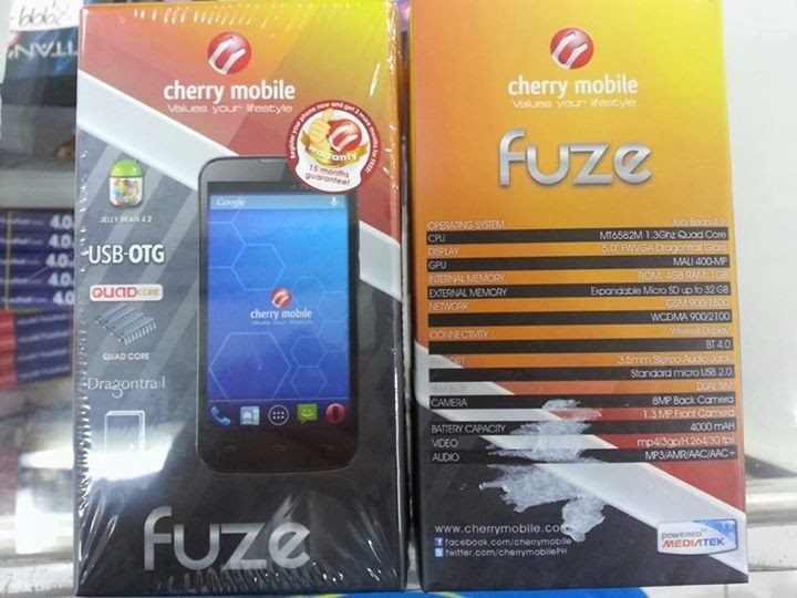 Cherry Mobile Fuze Retail Box