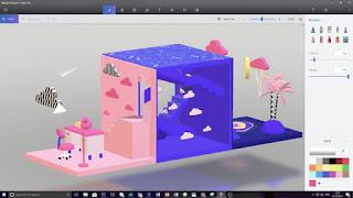 برنامج, انشاء, وتصميم, رسومات, متحركة, ثلاثية, الابعاد, مجاناً, Paint ,3D, بأخر, اصدار