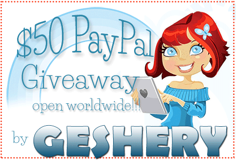 $50 PayPal Giveaway by Geshery button