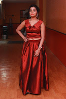 Tamil Actress Anisha Xavier Pos in Red Dress at Pichuva Kaththi Tamil Movie Audio Launch  0004.JPG