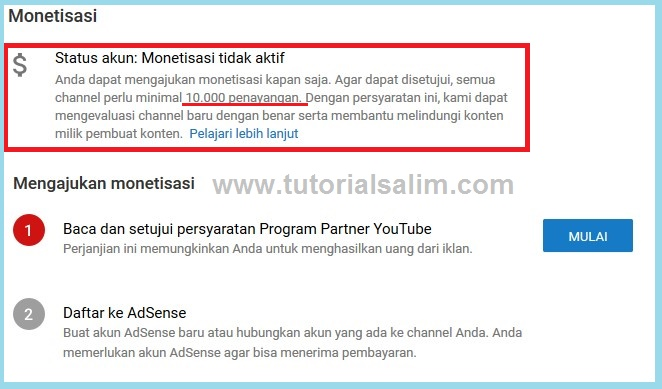 Syarat Minimal Penayangan Video di Youtube untuk Bisa di Monetisasi