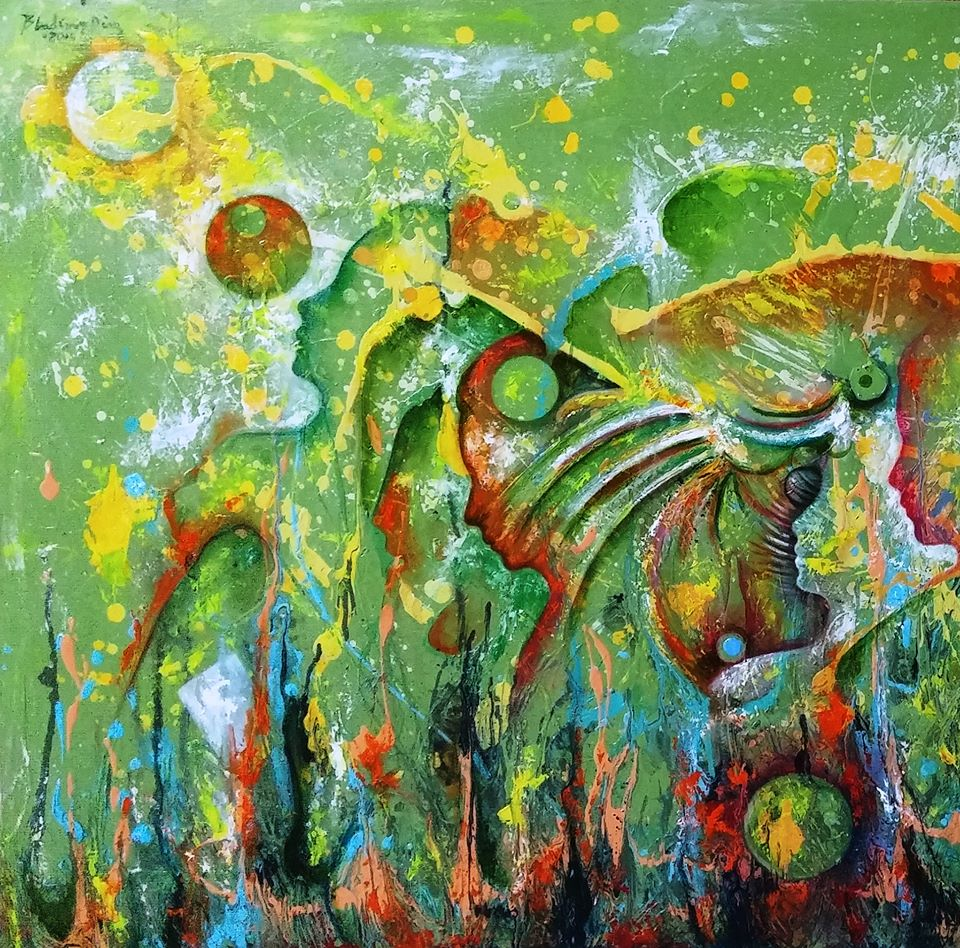 Bladimir Diaz. Oil on Canvas paintings