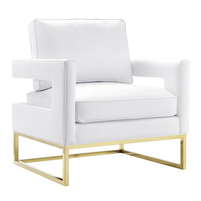 White Aloisio Chair - Mid-century Modern style!