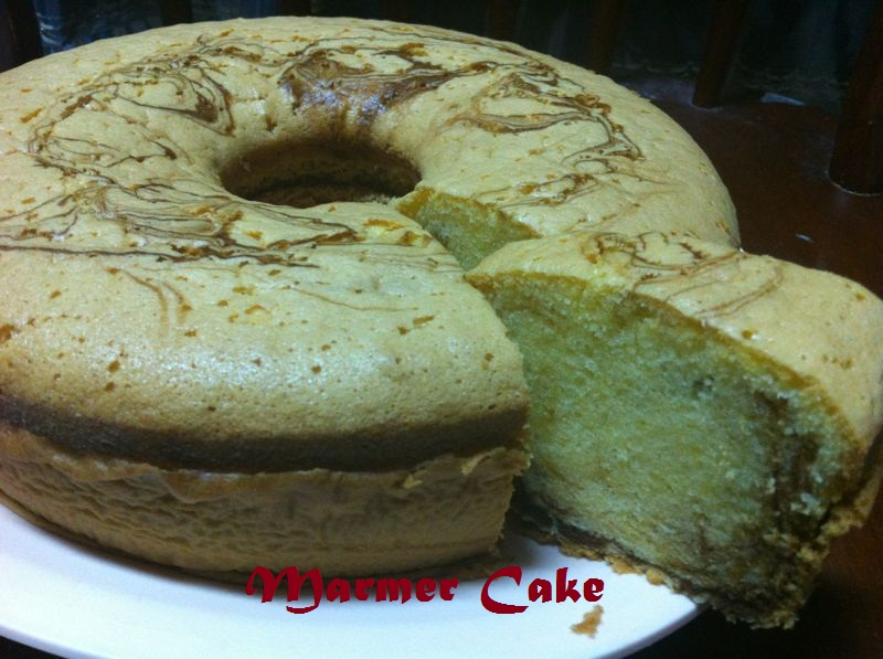 Resep Bolu Jadul Vanila: From My Kitchen: Marmer Cake Jadul