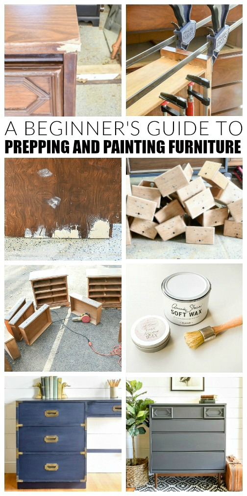 How to paint furniture tutorial