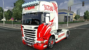 Scania R Red Side Curves skin