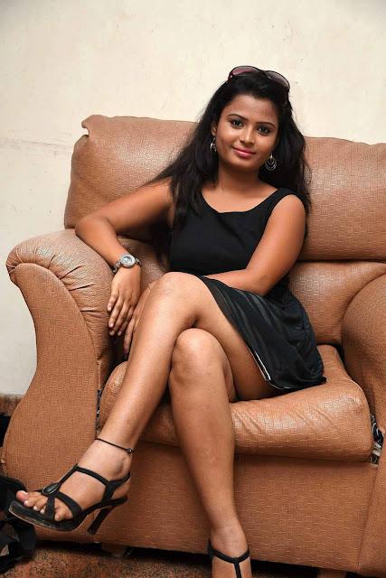 Anusha Latest Hot Cleveage Spicy Black Sleveless Skirt PhotoShoot Images At Gopyam Movie Launch