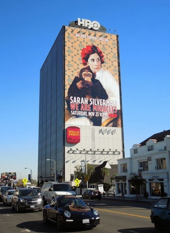 Sarah Silverman Miracles HBO billboard sunset strip