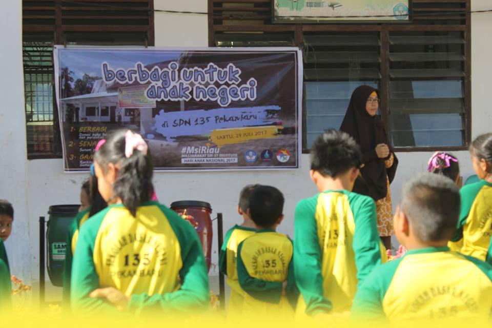 MSI Riau Berbagi untuk Anak Negeri di SDN 135 Pekanbaru