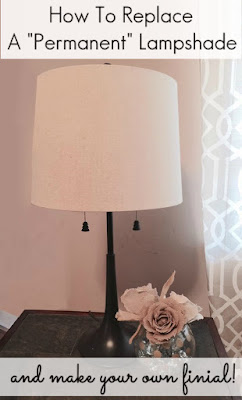 How-to-replace-permanent-lampshade-make-finial-diy-upcycled-tutorial