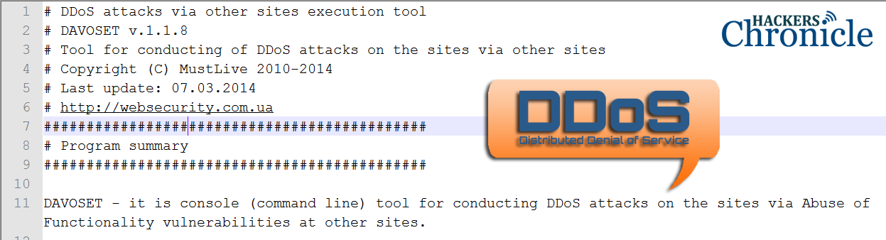 DAVOSET, most powerfull DDoS Tool released | Hackers Chronicle